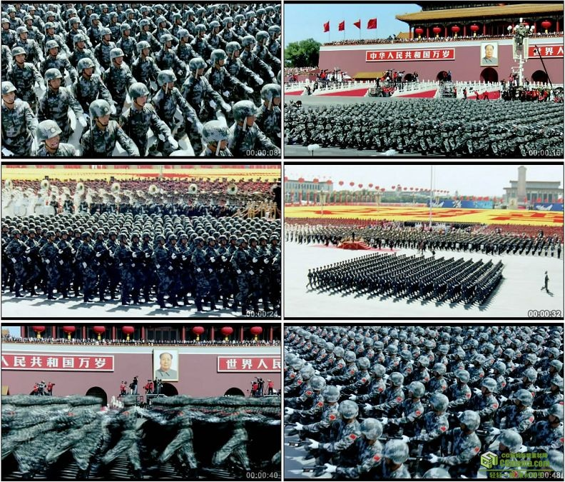 YC1239-中国人民军队预备役部队阅兵典礼高清实拍视频素材