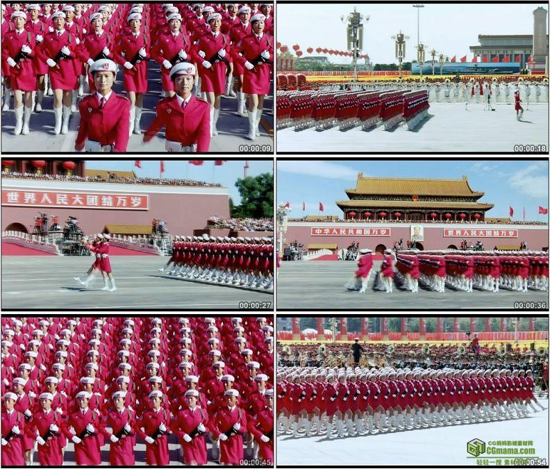 YC1240-中国人民军队女民兵部队军事高清实拍视频素材