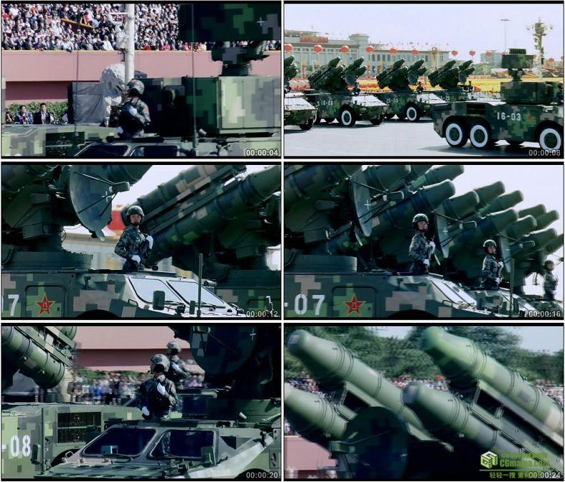 YC1257-中国军队防空导弹部队战车防空炮高射炮军事高清实拍视频素材