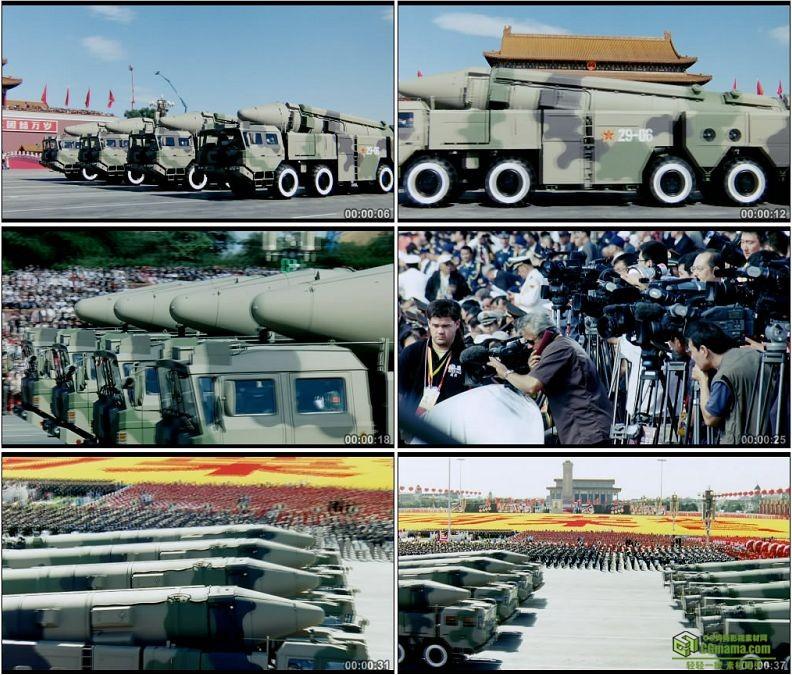 YC1269-东二十一丙常规导弹部队方队二炮第二炮兵部队中国军队高清实拍视频素材