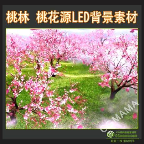 LED0180-桃林桃花源高清led屏幕背景视频素材