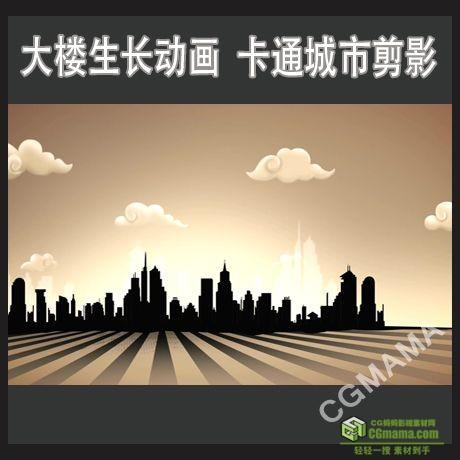 LED0353-大楼生长高清led背景视频素材