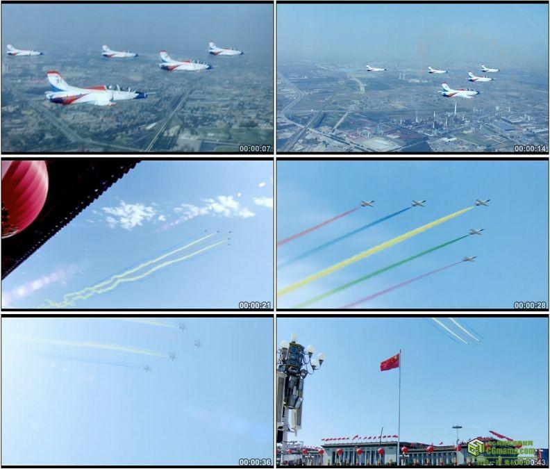 YC1282-天安门广场空军阅兵空军飞机教八歼击机战斗机女飞行员高清实拍视频素材