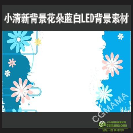 LED0380-小清新背景花朵蓝白高清视频背景素材