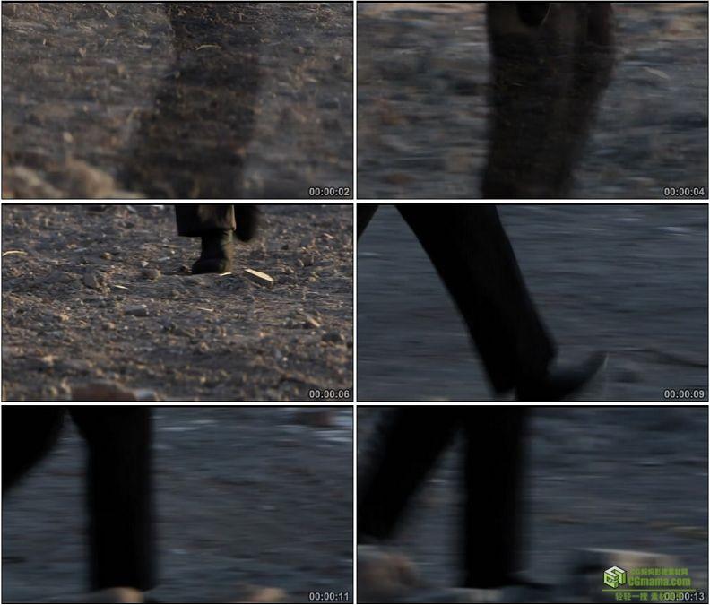 YC1328-老人街头散步踱步特写镜头高清实拍视频素材