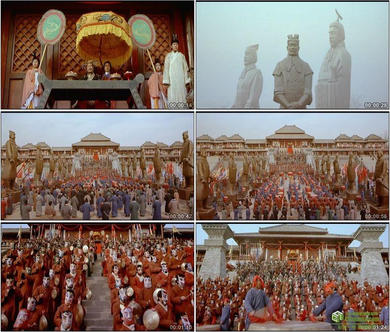 YC1342-战国时期秦始皇古代祭祀仪式高清实拍视频素材