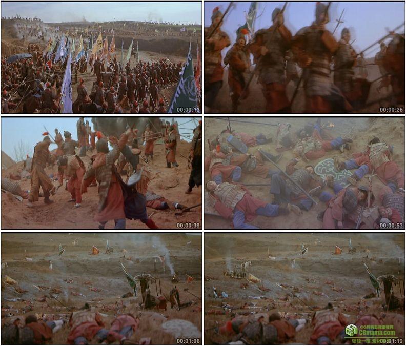 YC1344-战国时期古代战争打仗横尸遍野战火战乱高清实拍视频素材