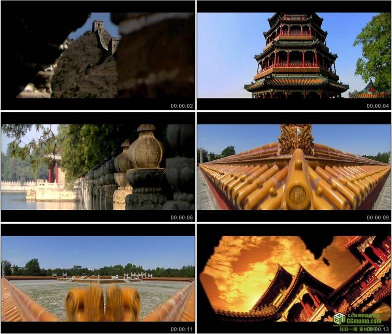 YC1363-北京司马台长城颐和园雍和宫地坛北海公园高清实拍视频素材