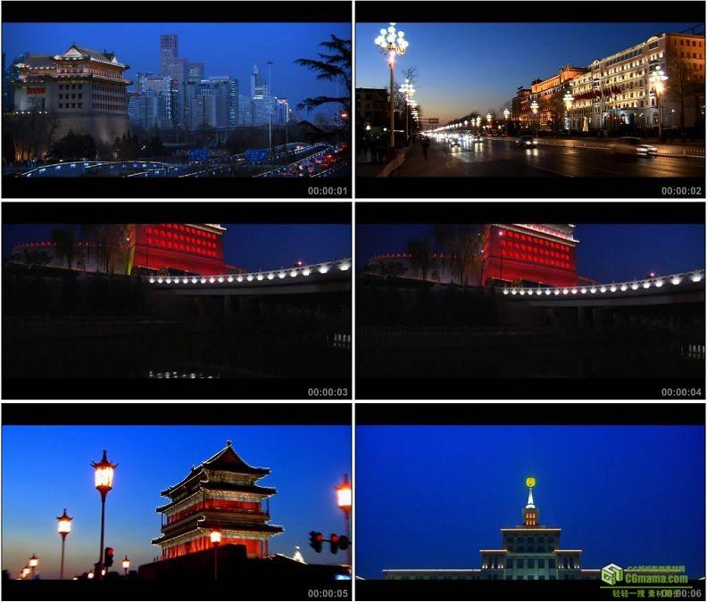YC1373-北京东便门城楼德胜门城楼正阳门城楼长安街军事博物馆小高清实拍视频素材