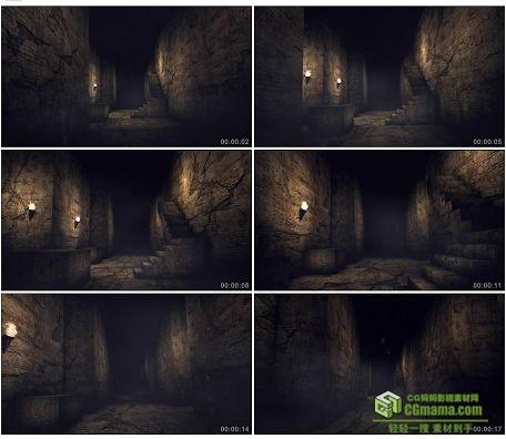 LED0574-神秘隧道破旧场景LED高清视频背景素材