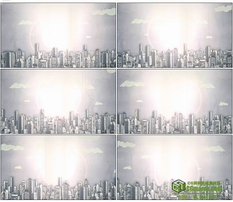 LED0576-城市生长动画高清LED视频背景素材