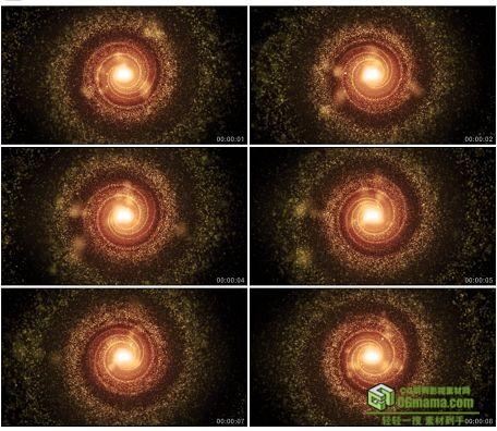 LED0579-橙色光耀未来催眠光粒子LED高清视频背景素材