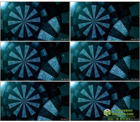 LED0583-旋转的齿轮转盘LED高清视频背景素材