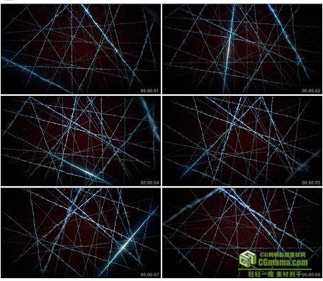 LED0585-蓝色电流铁丝网旋转高清LED视频背景素材