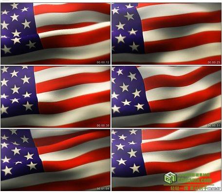 LED0597-美国星条旗飘动国旗LED高清视频背景素材
