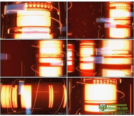 LED0598-炫动红色光柱LED高清视频背景素材