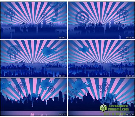 LED0600-光芒城市动感背景LED高清视频背景素材