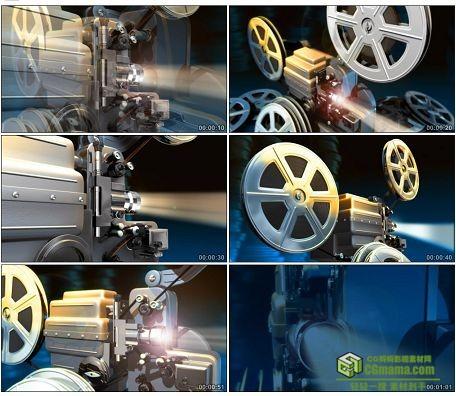 LED0607-老式电影放映机LED高清视频背景素材