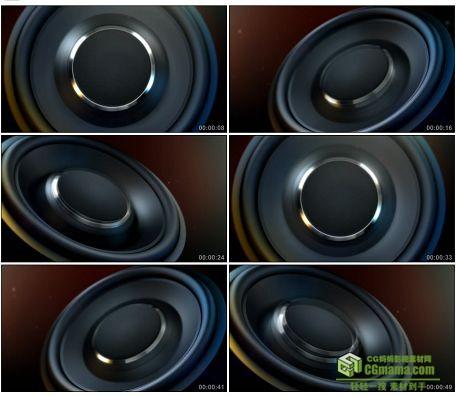 LED0611-动感音乐喇叭音响LED高清背景视频素材