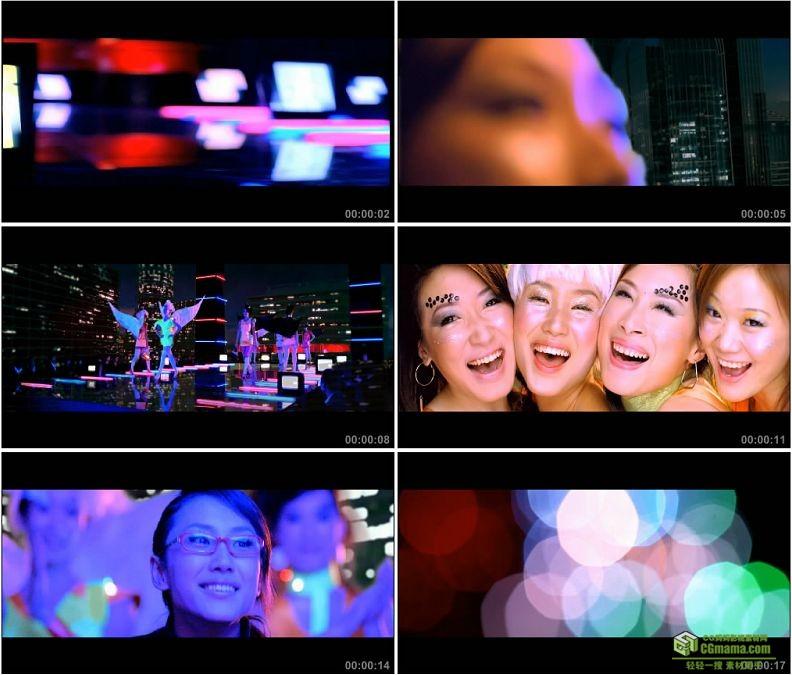 YC1447-夜店夜场走秀高清实拍视频素材