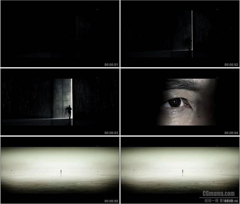YC1549-开门男人的眼睛小高清实拍视频素材