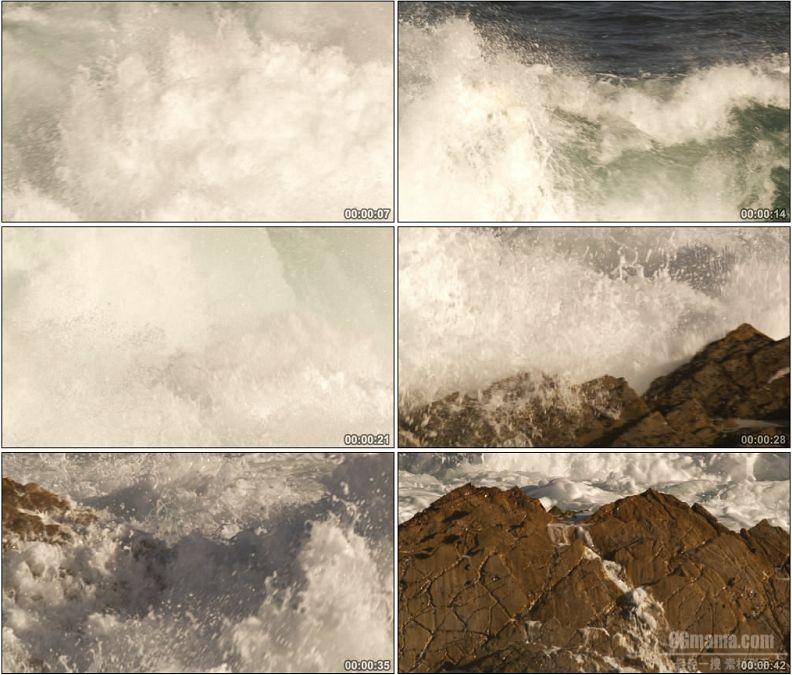 YC1551-巨浪浪涛自然美景高清实拍视频素材