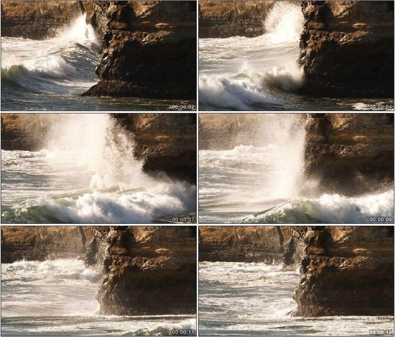 YC1552-巨浪海浪海岸礁石自然高清实拍视频素材
