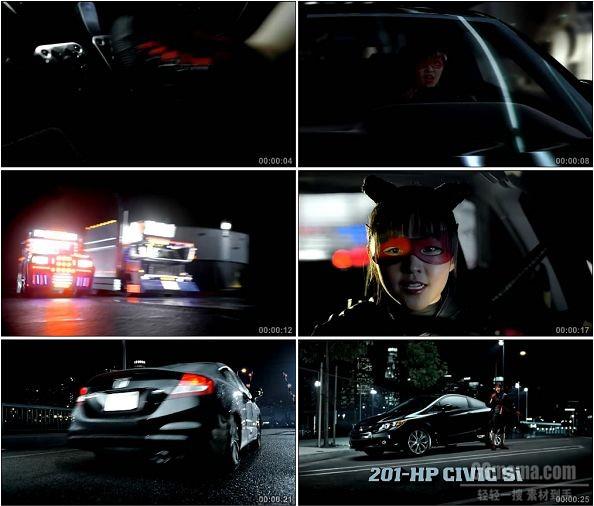 TVC00157-[720P] Honda Civic本田思域广告忍者篇
