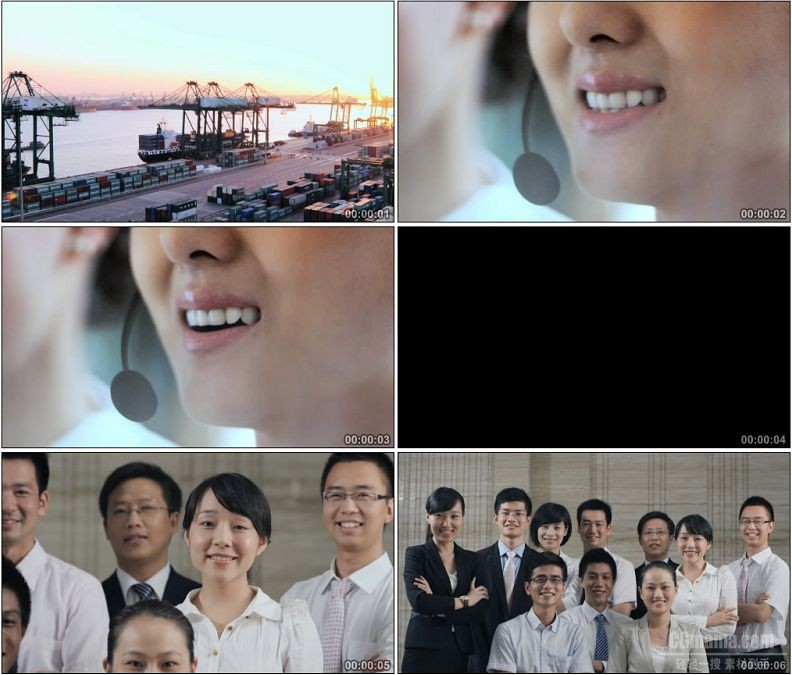 YC1581-物流客服服务接线员服务人员人物商务高清实拍视频素材