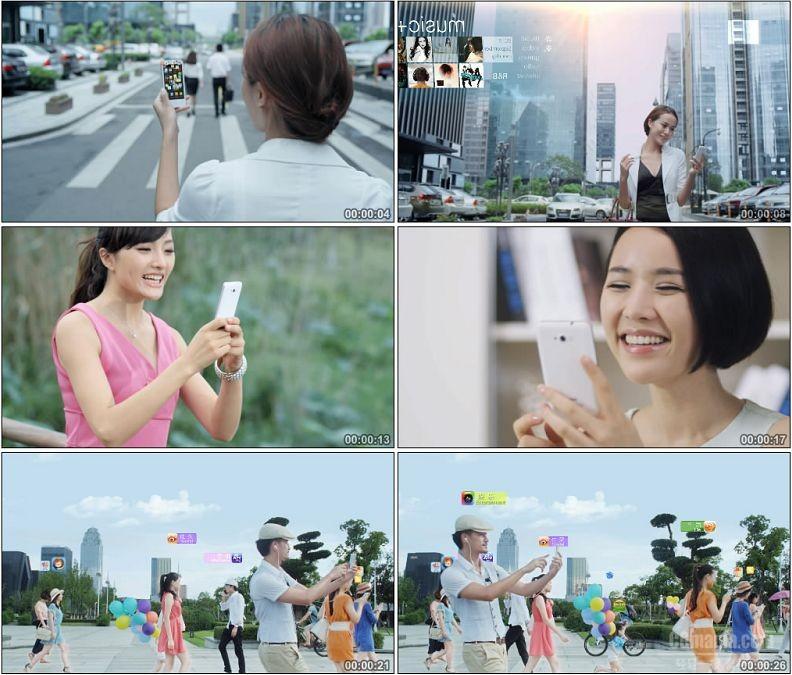 YC1595-智能手机网络社交软件互动互联手机视频通信高清实拍视频素材