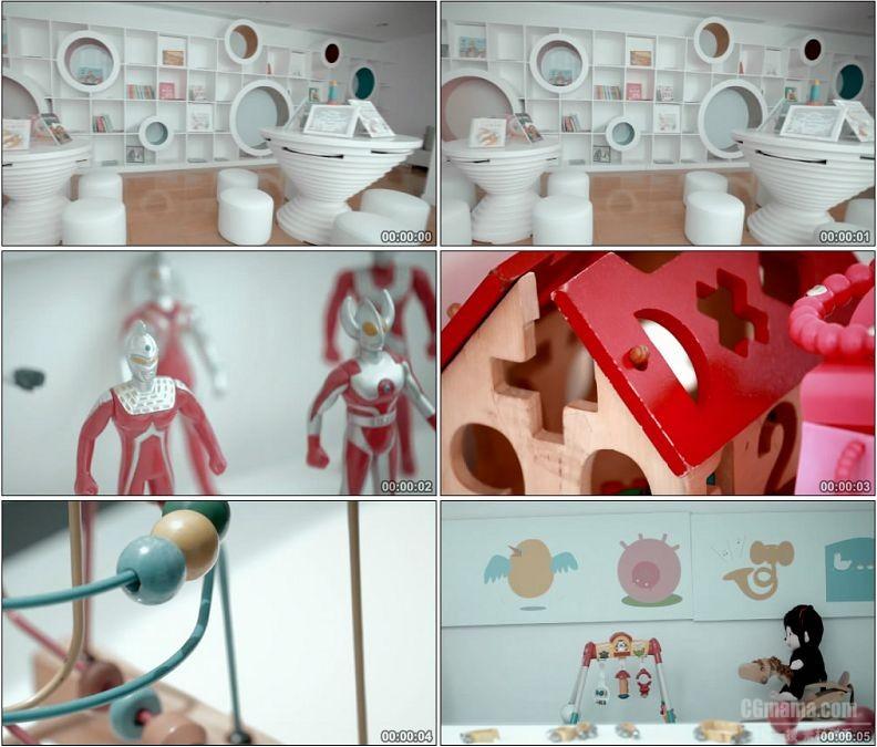 YC1624-儿童玩具一组人物高清实拍视频素材