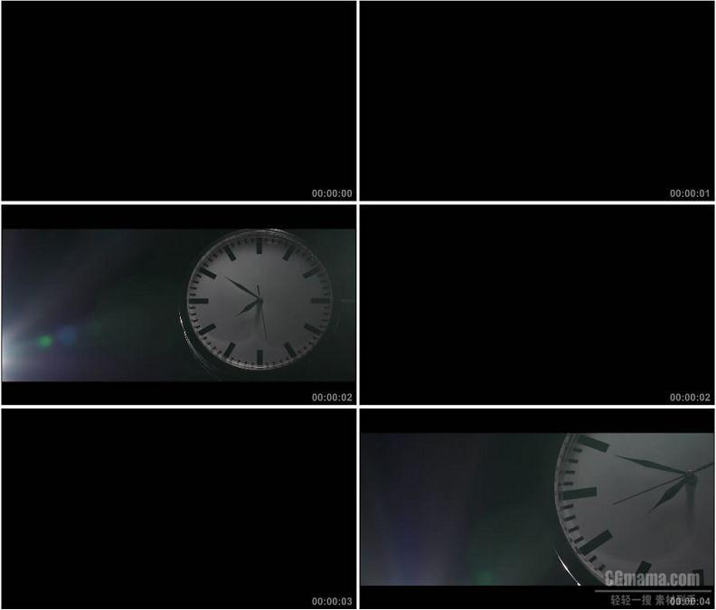 YC1628-时间走动的钟表挂钟特写高清实拍视频素材