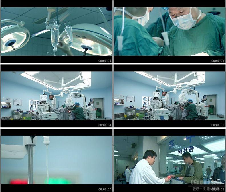 YC1645-医院医生急救手术输液拿药高清实拍视频素材