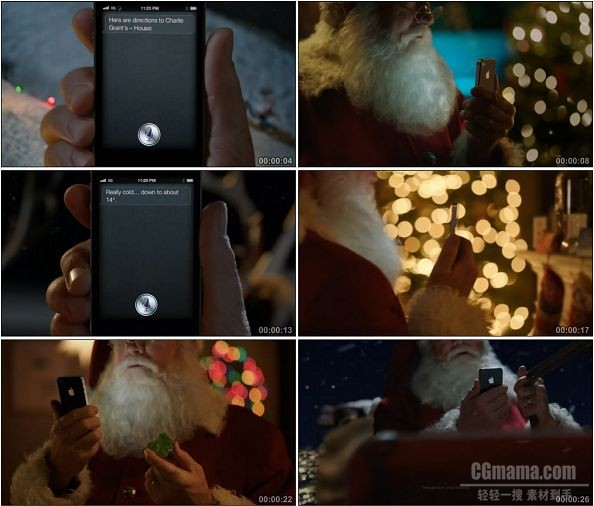 TVC00561-Apple - iPhone 4S广告圣诞老人篇.720p