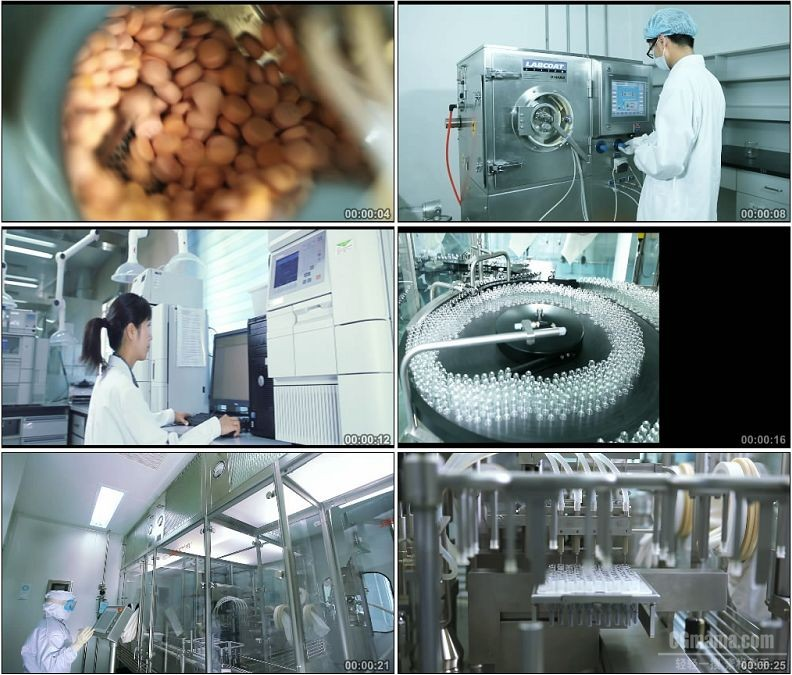 YC1666-医务科研人员研发药物药片医疗器戒药厂生产高清实拍视频素材