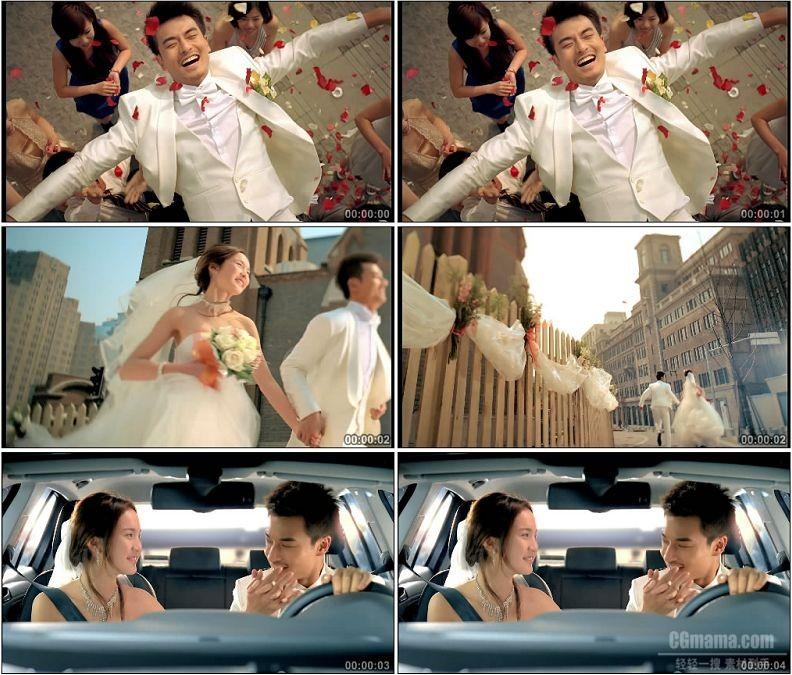YC1668-新郎新娘结婚婚礼浪漫高清实拍视频素材