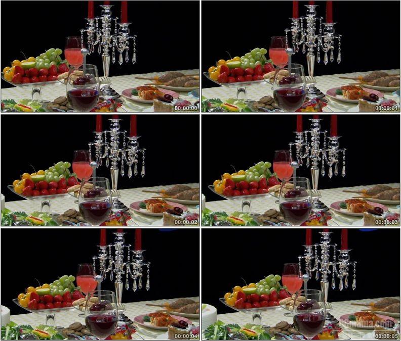 YC1677-西方美食餐饮餐桌高清实拍视频素材