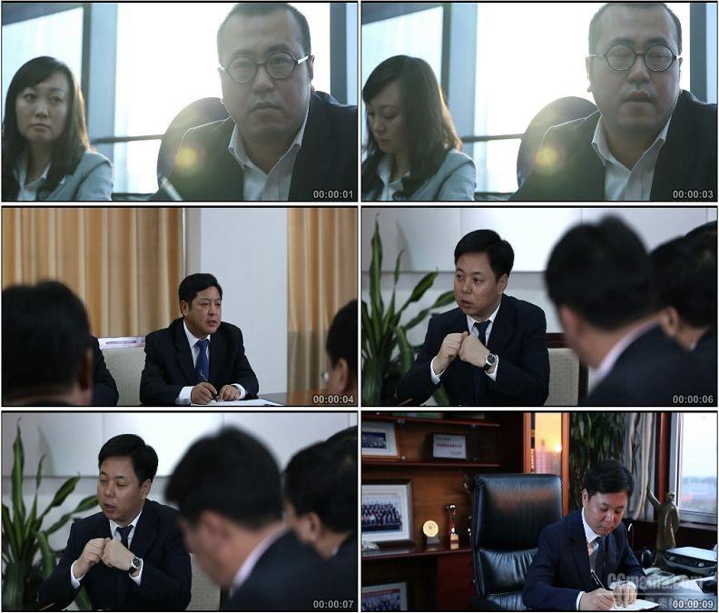 YC1684-公司企业会议开会领导签字写东西高清实拍视频素材