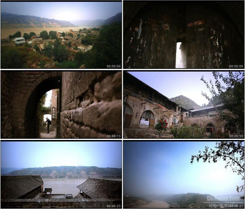 YC1712-山西吕梁碛口古镇村落村子古城高清实拍视频素材