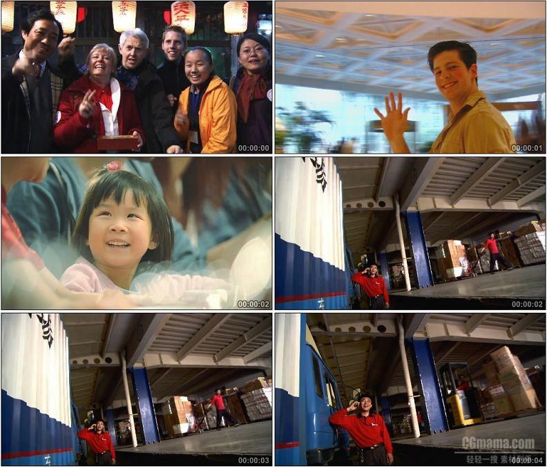 yc1721-外国人中国人小女孩笑脸笑容高清实拍视频素材