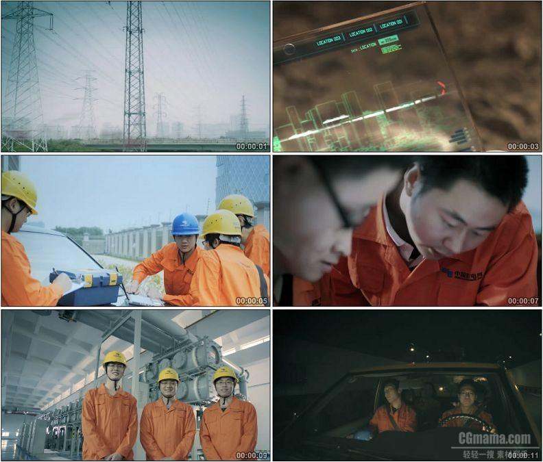 YC1742-电网维护维修工人工作操作高清实拍视频素材
