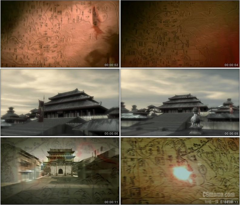 YC1754-古代汉代战争古代战役古城建立高清实拍视频素材