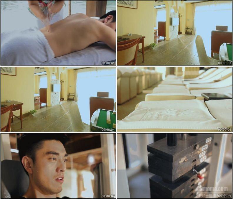 YC1775-男士SPA理疗休闲健身娱乐高清实拍视频素材
