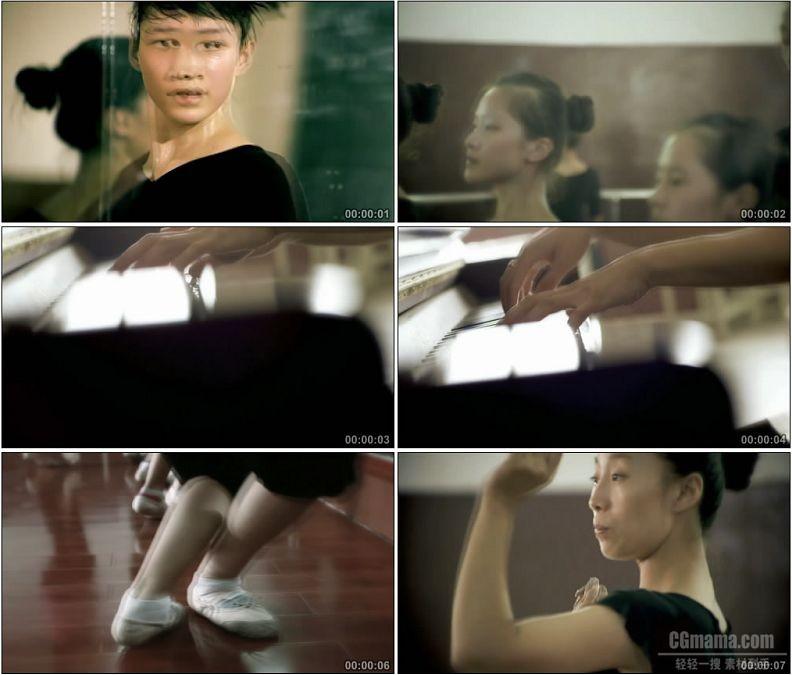 YC1795-舞蹈训练形体课艺术高清实拍视频素材