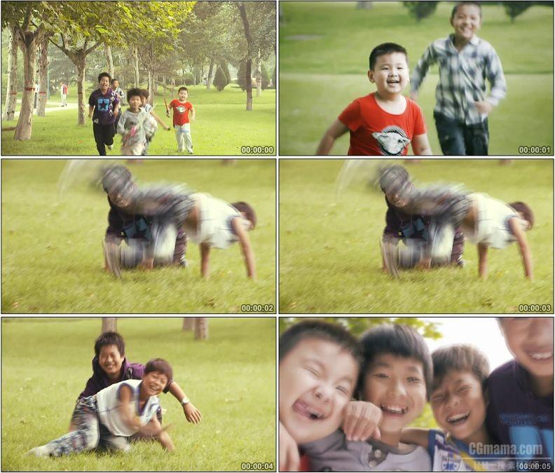 YC1803-奔跑玩耍的小孩笑脸人物高清实拍视频素材