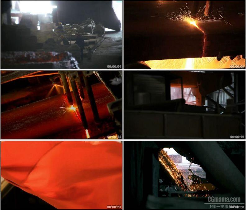 YC1810-冶炼制造钢铁生产钢铁工人高清实拍视频素材