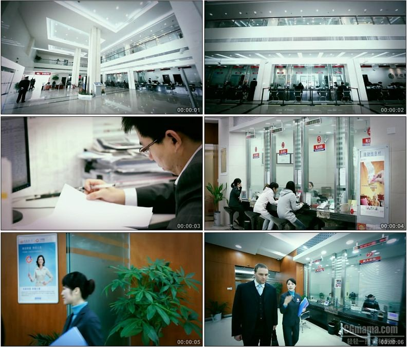 YC1816-银行金融理财业务办理高清实拍视频素材