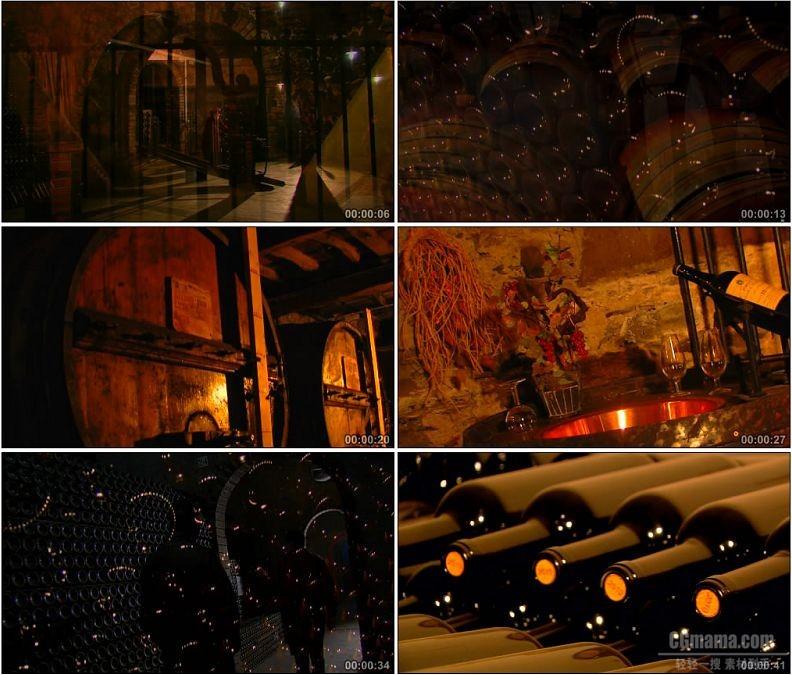 YC1890-红酒酒窖葡萄酒贮藏存放小高清实拍视频素材