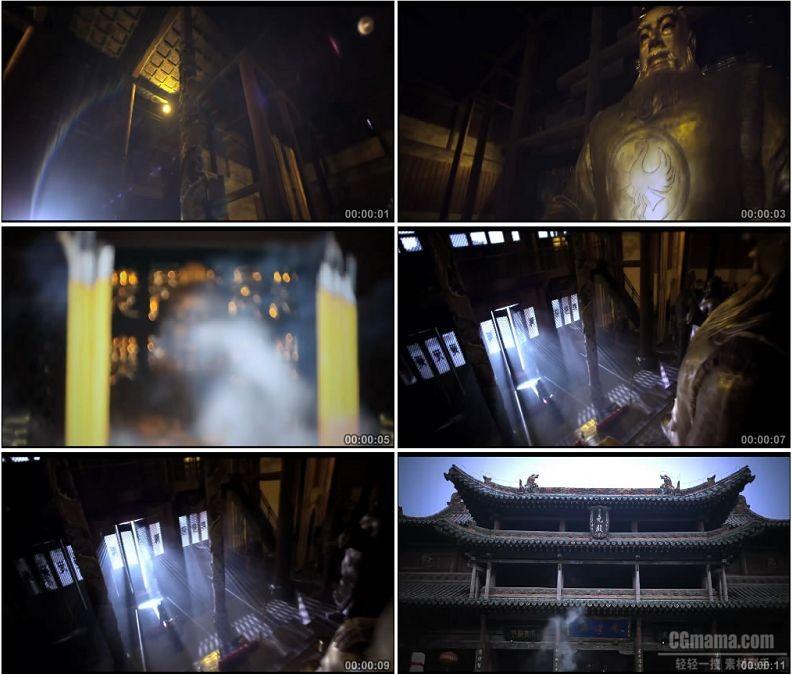 YC1822-山西临汾市尧庙古代建筑名胜古迹高清实拍视频素材