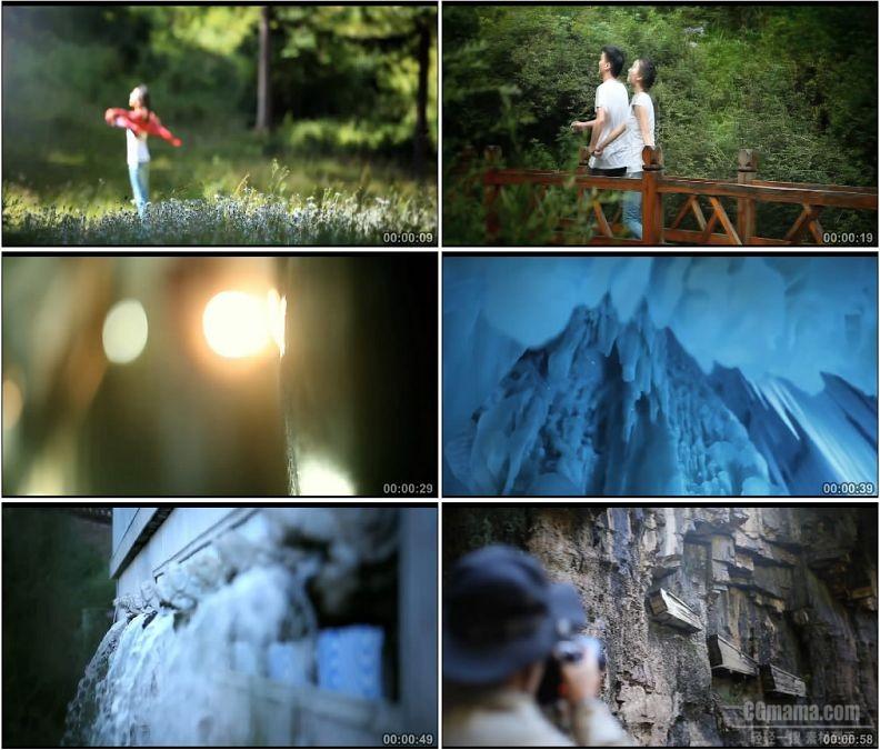 YC1851-山西芦芽山美丽景色情侣旅游游玩高清实拍视频素材